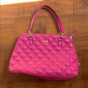 Kate Spade ♠️ Hot Pink Leather Quilt Bag